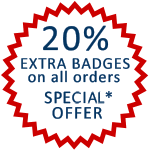 September Offer - 20% extra badges on all orders